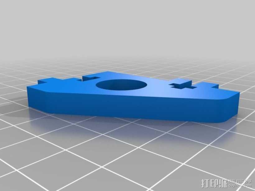 直线驱动挤出机套件 3D打印模型渲染图