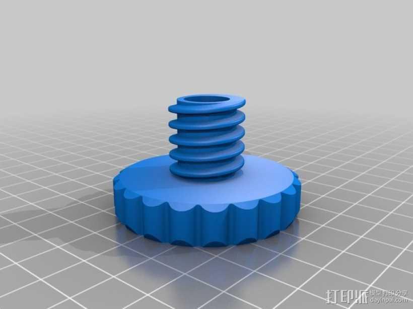 Duplicator 4X打印机的高度调节器 3D打印模型渲染图