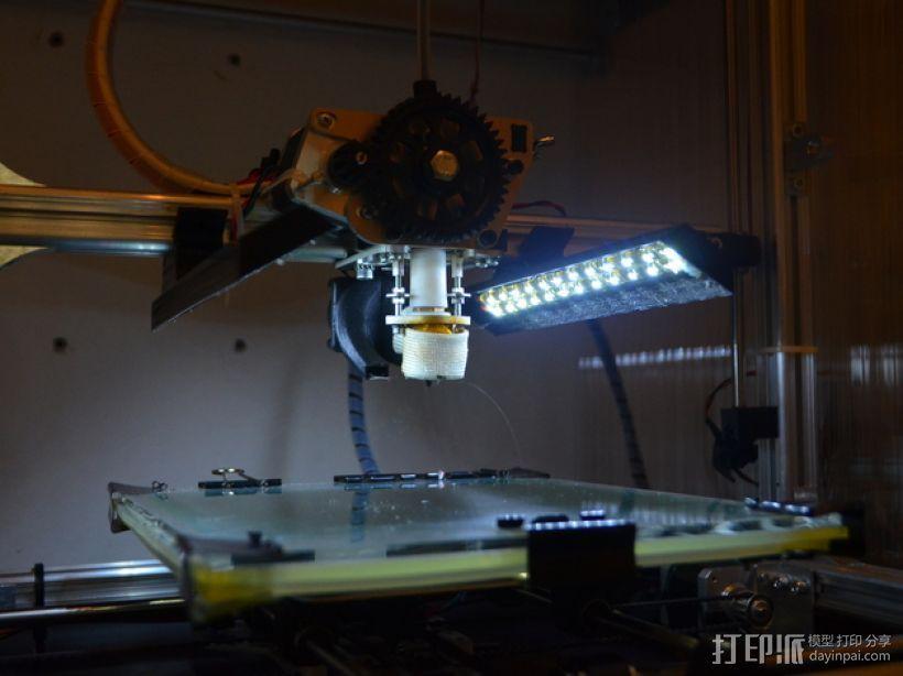 3Drag K8200打印机的LED灯带固定器 3D打印模型渲染图