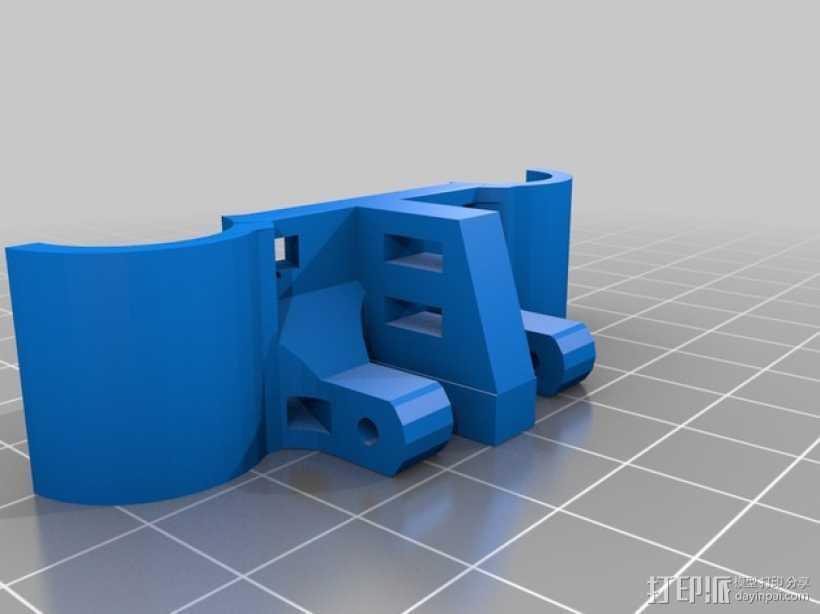 轴杆固定器 GT2皮带固定器 3D打印模型渲染图
