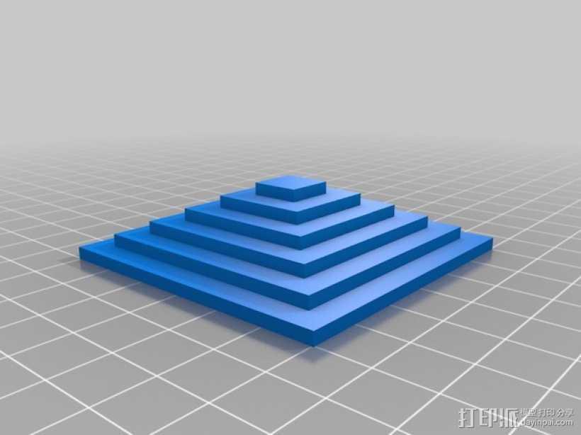 Kossel打印机校准测试 3D打印模型渲染图