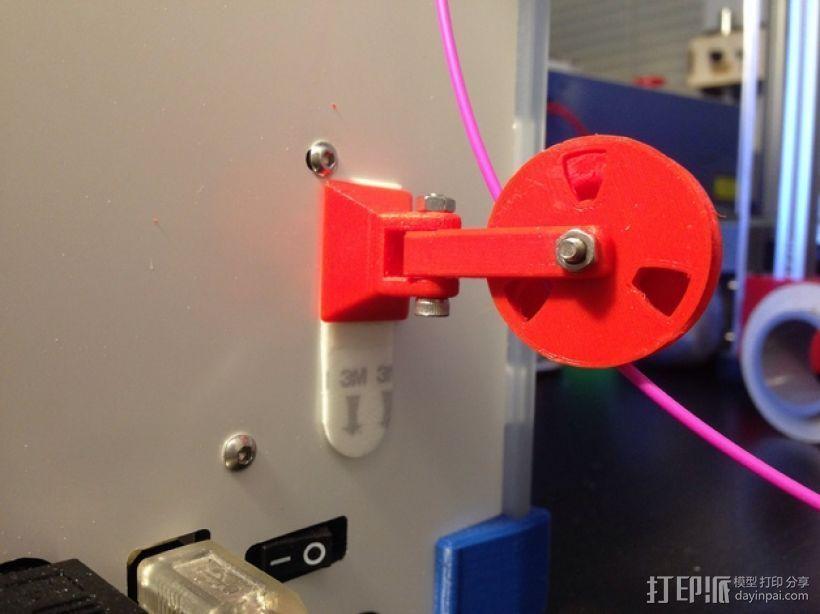 滑轮线材导线器 3D打印模型渲染图
