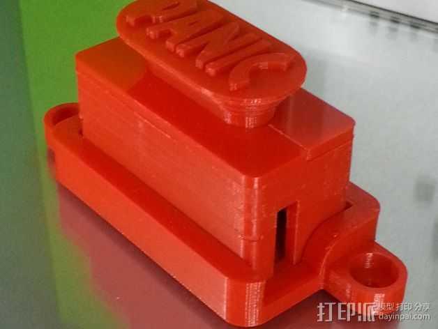 控制器电路板外壳 3D打印模型渲染图
