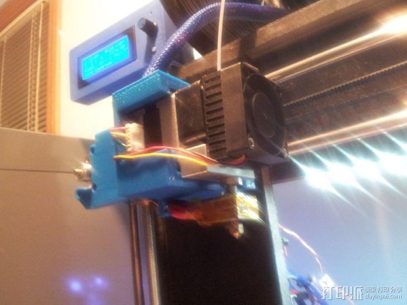 挤出机固定架 3D打印模型渲染图