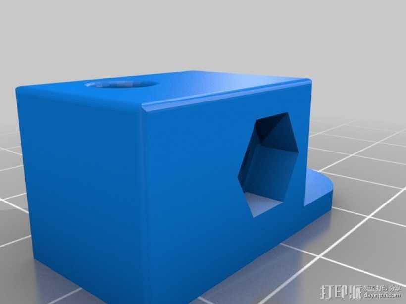 Mini Kossel 打印机的线轴支架 3D打印模型渲染图