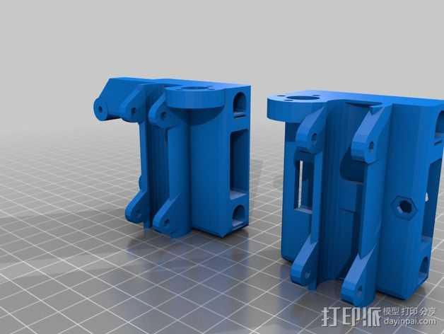 Prusa i3 打印机的 X ends 3D打印模型渲染图