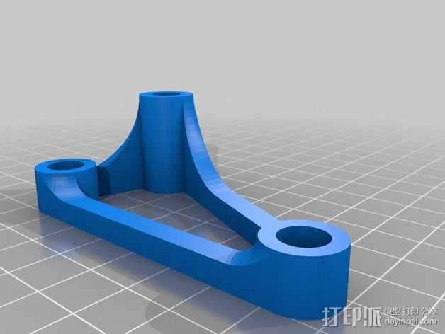 Printrbot Simple打印机的螺杆/光杆稳定器 3D打印模型渲染图