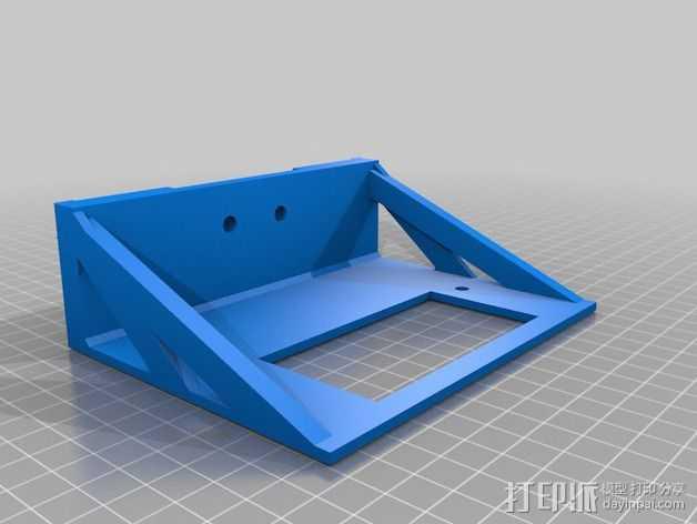mk7控制器显示屏支架 3D打印模型渲染图