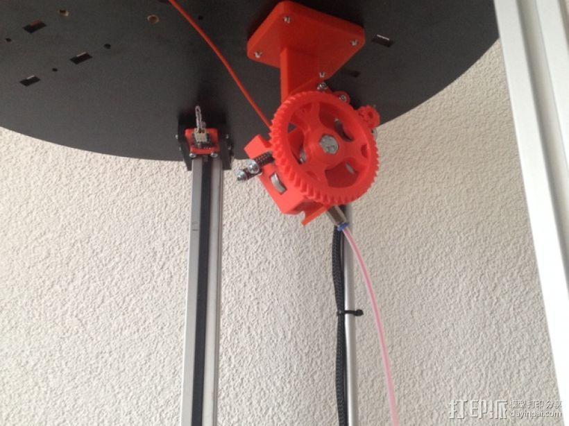 鲍登齿轮挤出机 3D打印模型渲染图