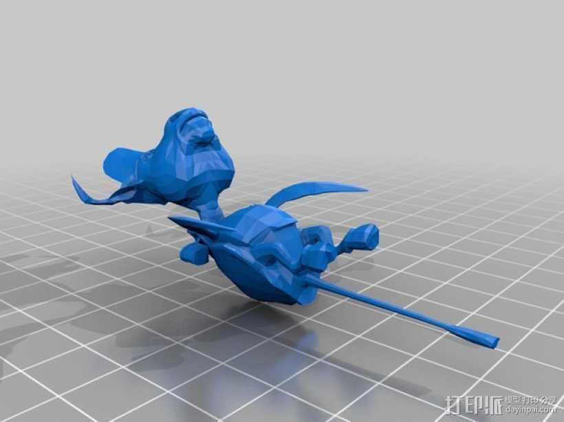 爱丽丝疯狂回归 Mock龟 3D打印模型渲染图