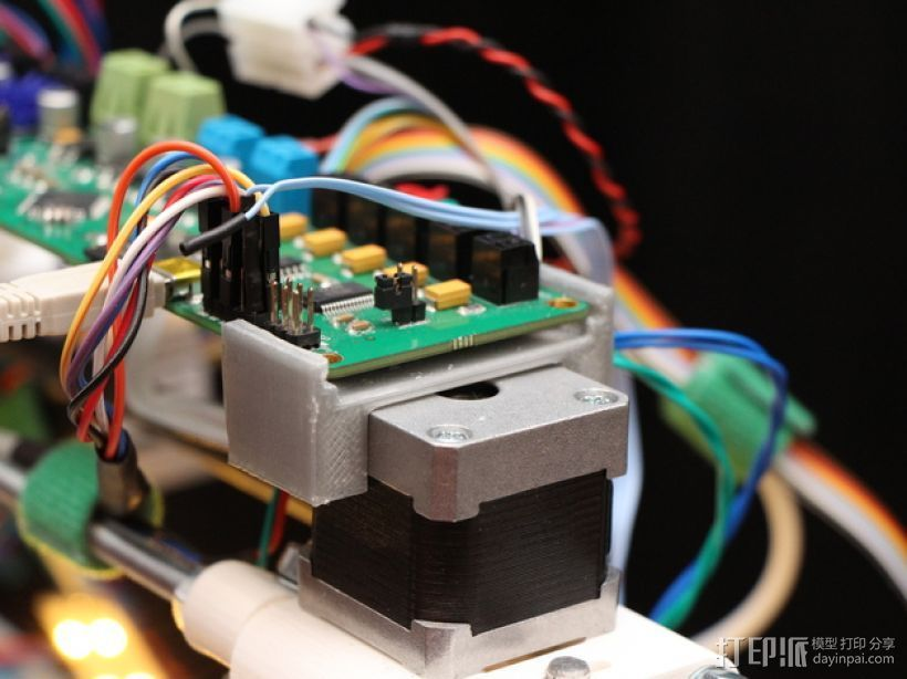 Melzi 电路板支架 3D打印模型渲染图