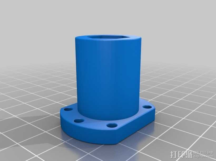 螺母 3D打印模型渲染图