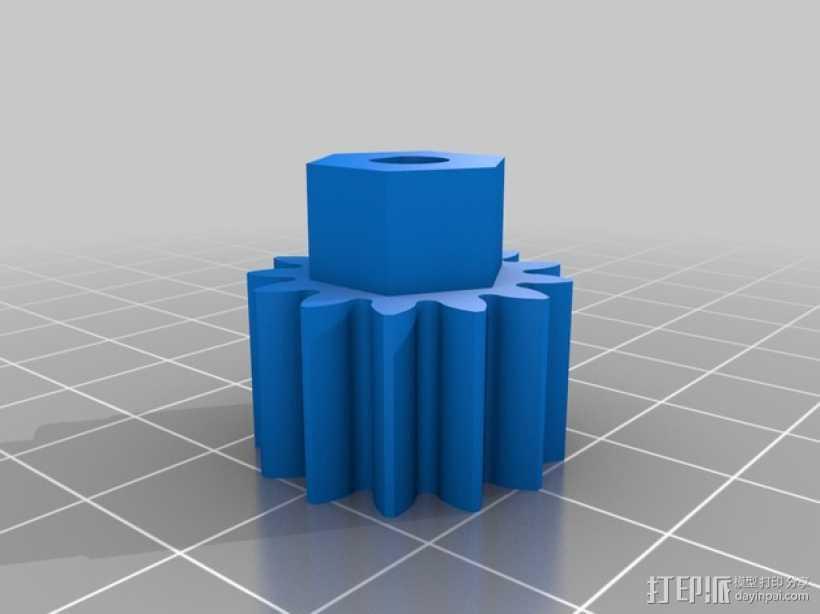 挤出机齿轮 3D打印模型渲染图