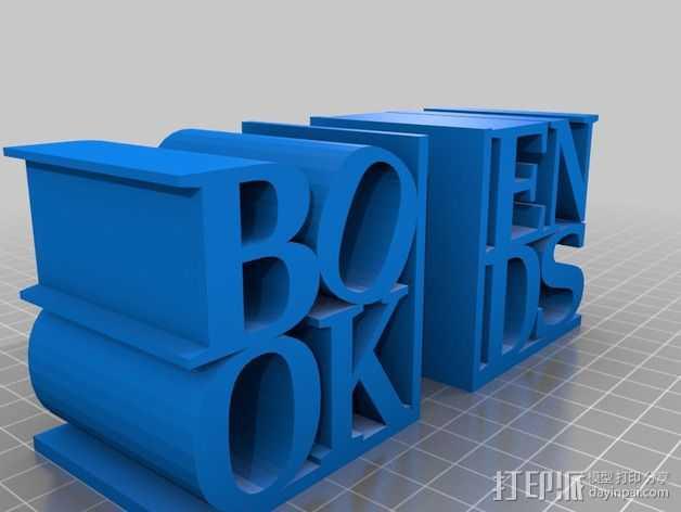 字母摆件 3D打印模型渲染图