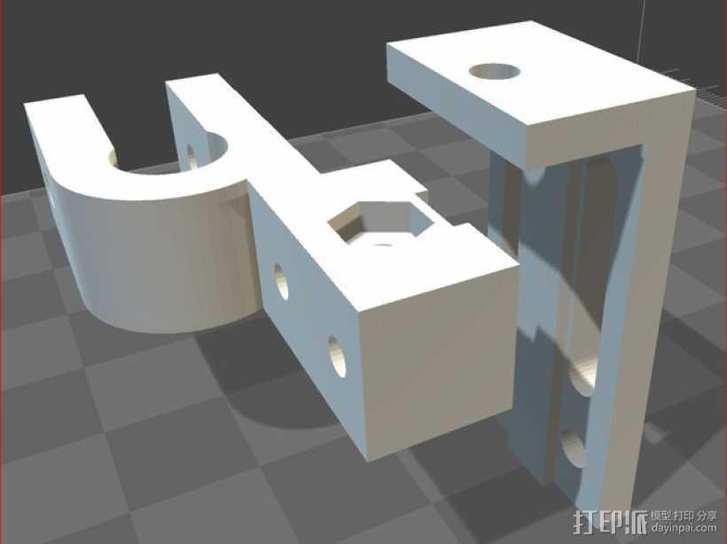 可调整Z轴适配器 3D打印模型渲染图
