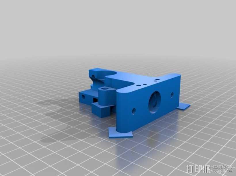Prusa i3挤出器 3D打印模型渲染图
