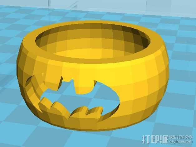蝙蝠侠指环 3D打印模型渲染图