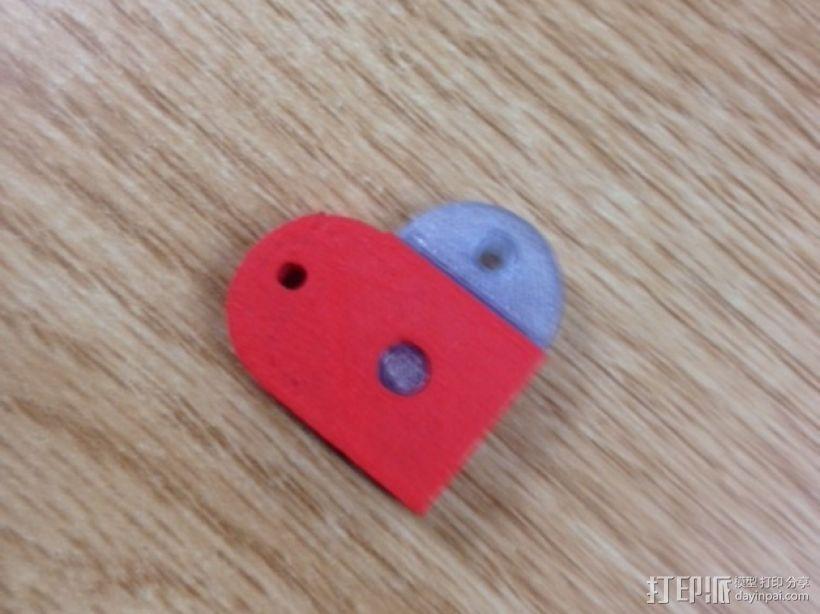 心形摆件 3D打印模型渲染图