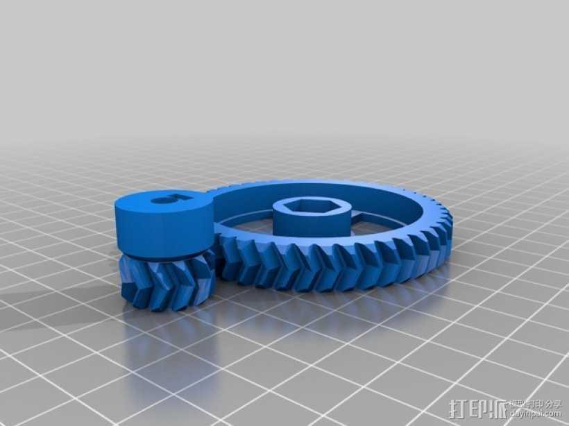 Prusa I3齿轮 3D打印模型渲染图