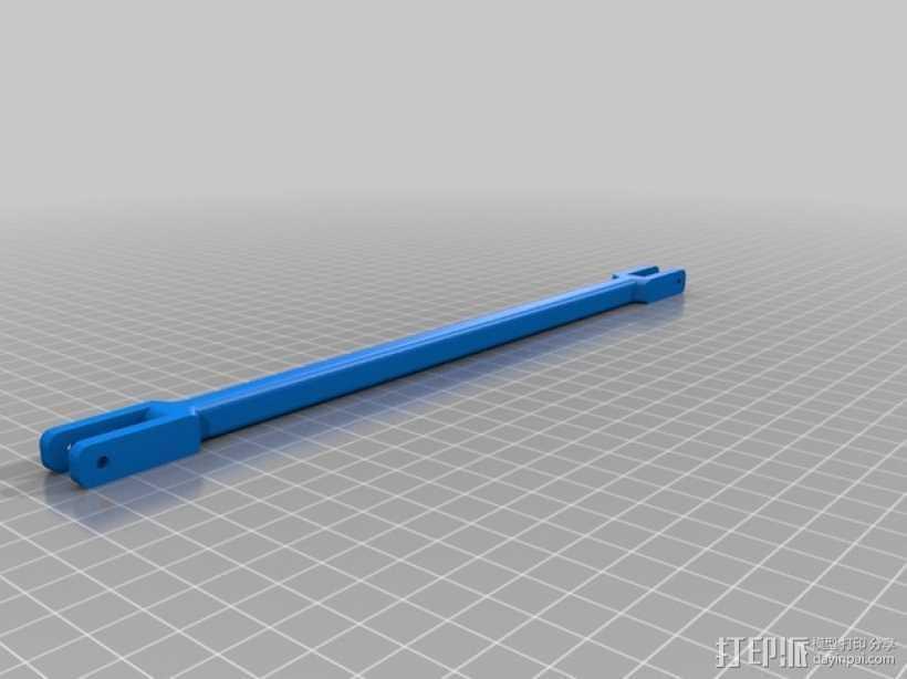 印刷斜杆 3D打印模型渲染图