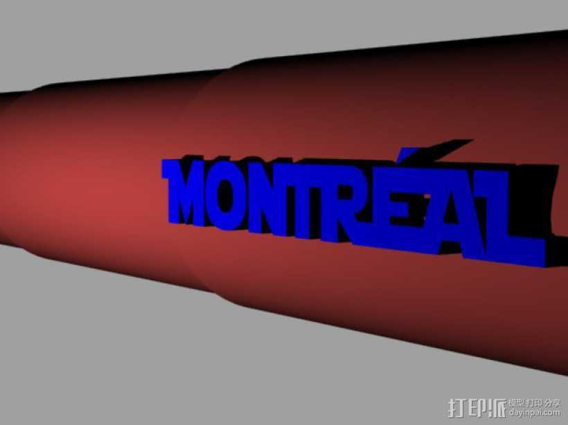 望远镜 3D打印模型渲染图