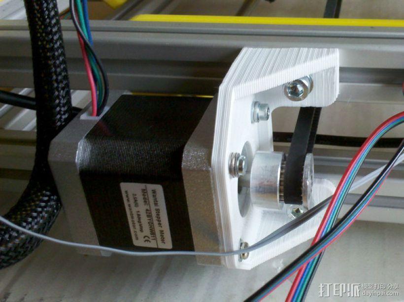Y轴适配器 3D打印模型渲染图