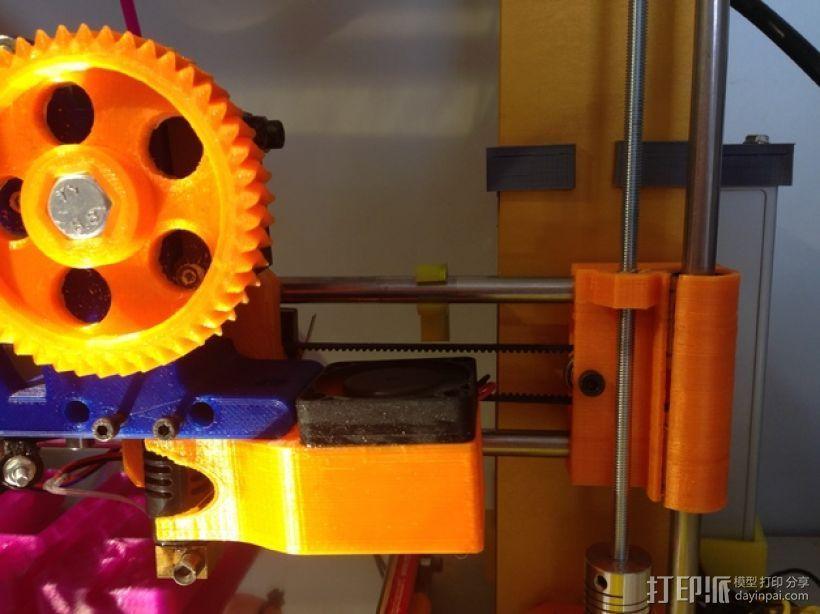X轴夹 3D打印模型渲染图