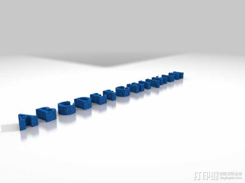 字母ABCDEFG模型 3D打印模型渲染图