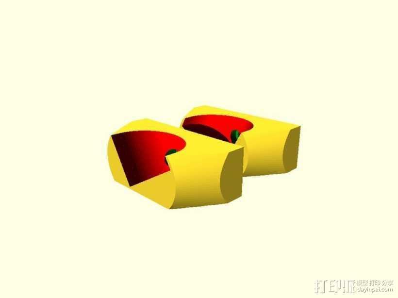 PVC轴托 3D打印模型渲染图
