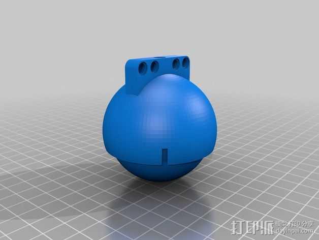 滚轴 3D打印模型渲染图