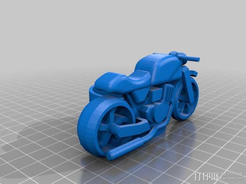 摩托车摆件 3D打印模型渲染图