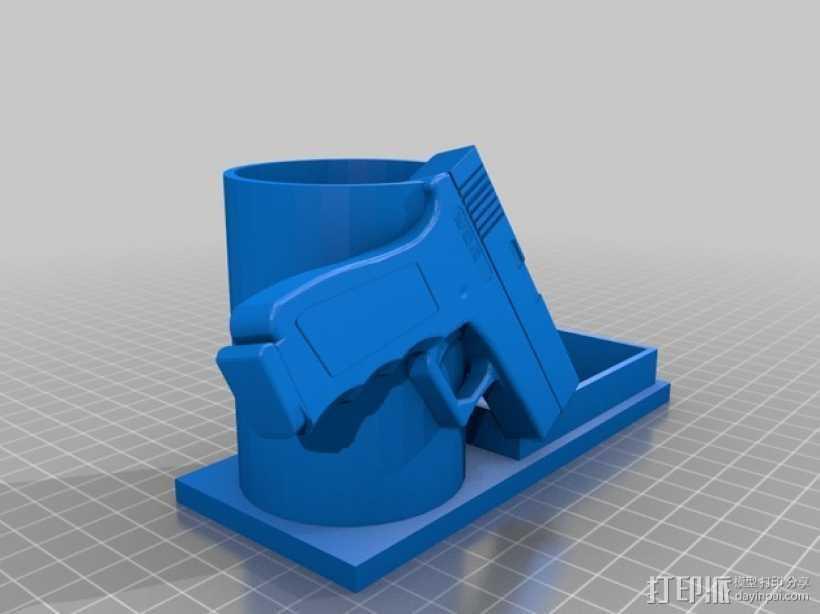 笔筒 3D打印模型渲染图