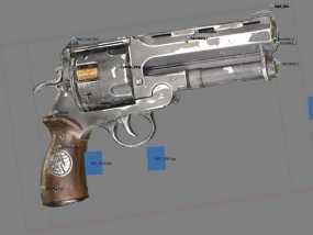 小型手枪摆件