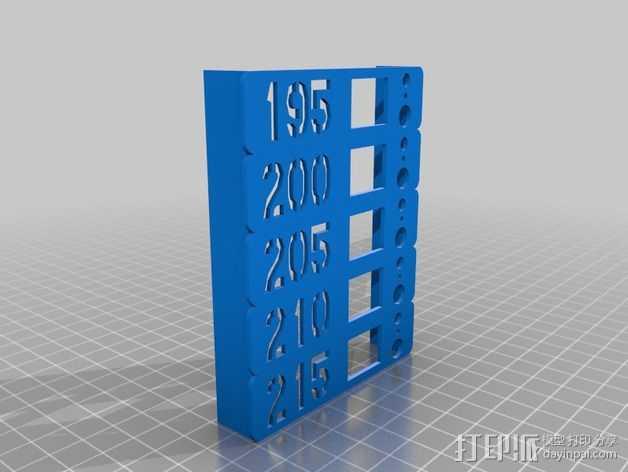 挤出机温度测试 3D打印模型渲染图