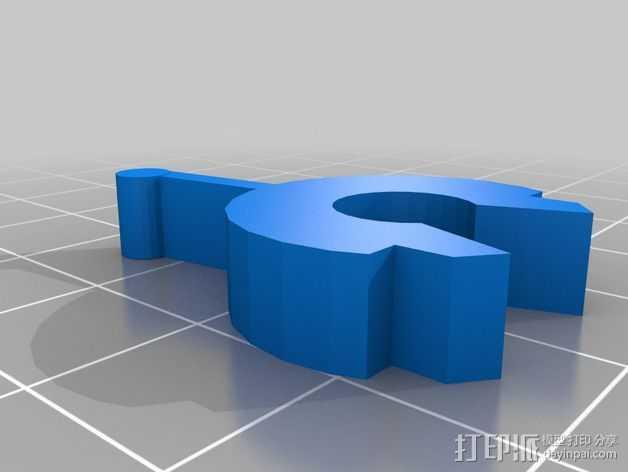 带杆支架 3D打印模型渲染图