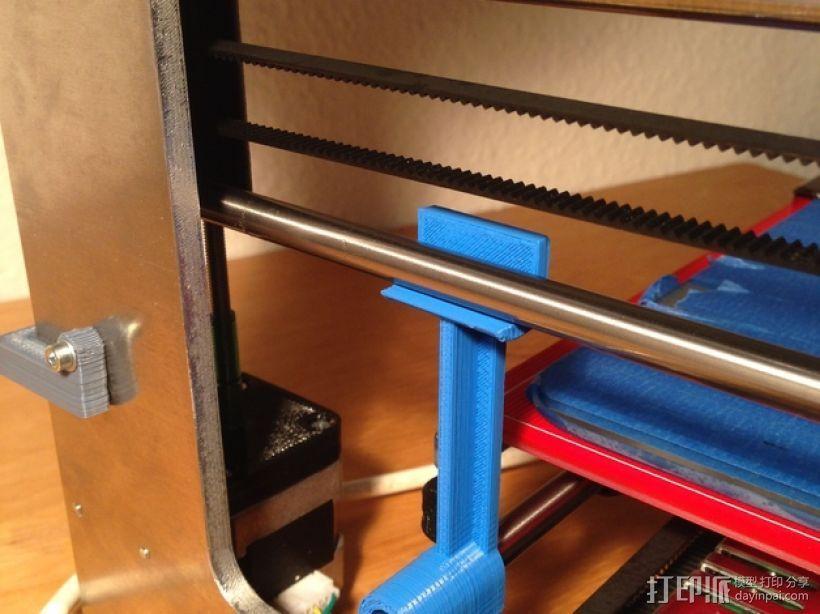 X轴支架 3D打印模型渲染图