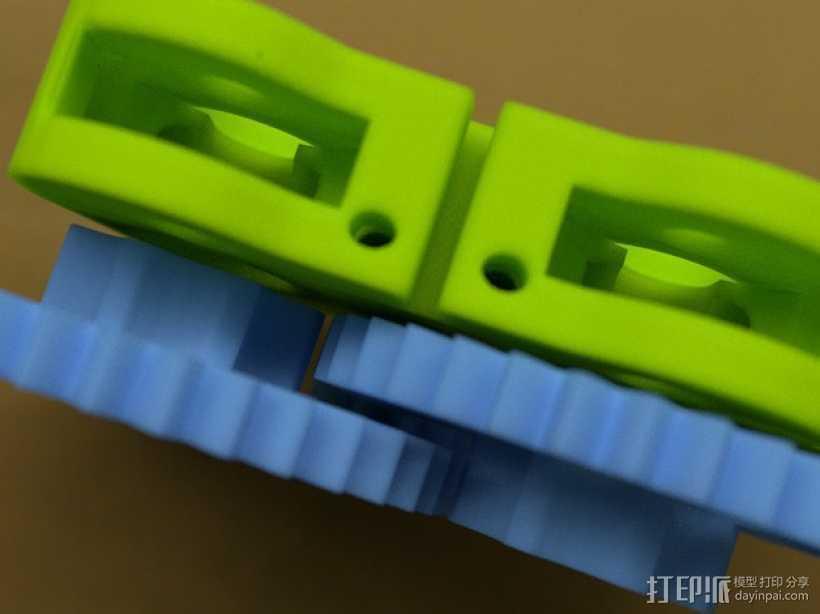 双挤出器 3D打印模型渲染图