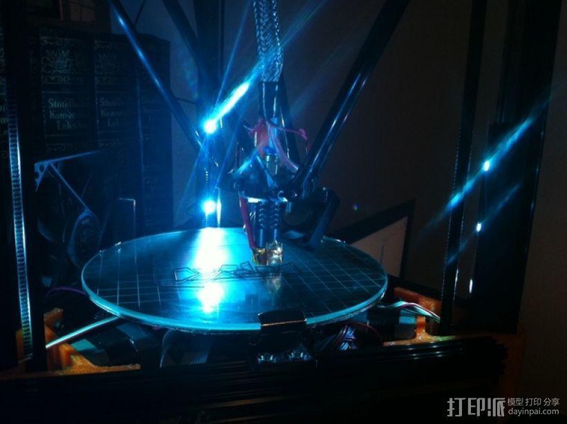 迷你LED适配器 3D打印模型渲染图