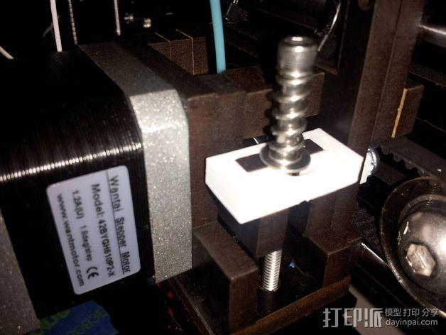 挤出器弹簧板 3D打印模型渲染图