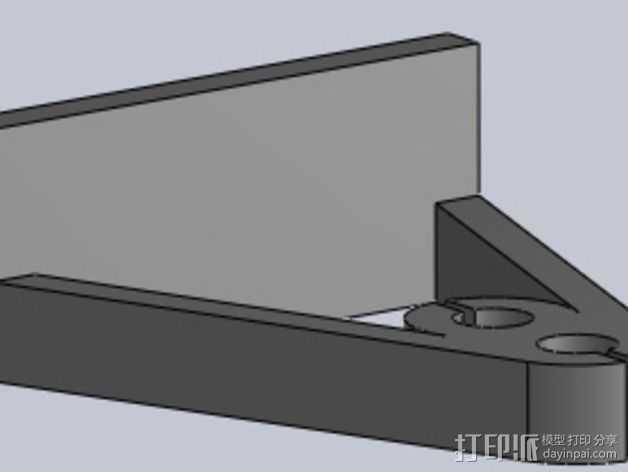 Z轴支撑 3D打印模型渲染图