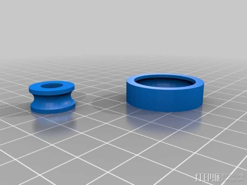 气枪配件 3D打印模型渲染图