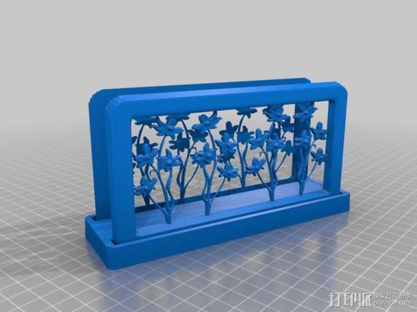 花朵夹子 3D打印模型渲染图