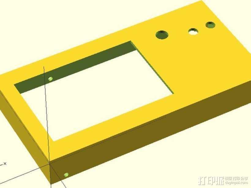 LCD外壳 3D打印模型渲染图