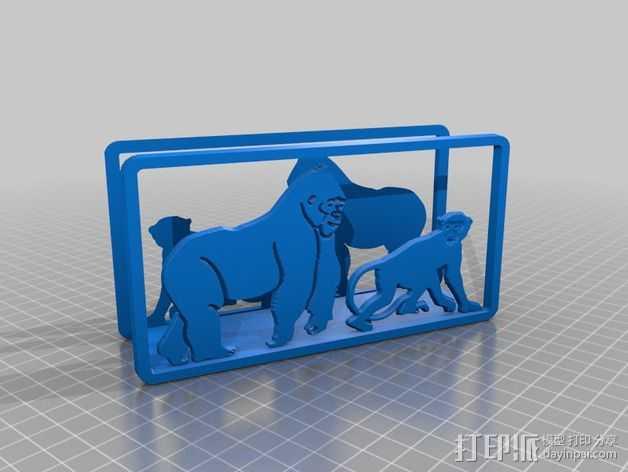 猴子摆件 3D打印模型渲染图
