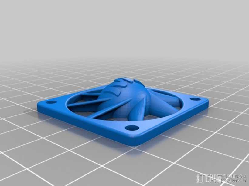 风扇 3D打印模型渲染图