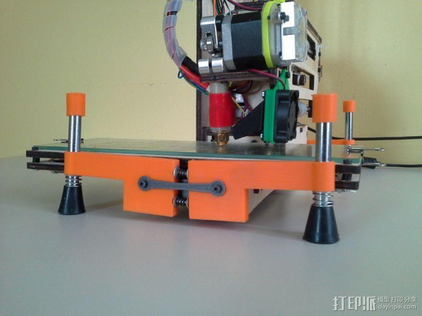 弹簧脚 3D打印模型渲染图