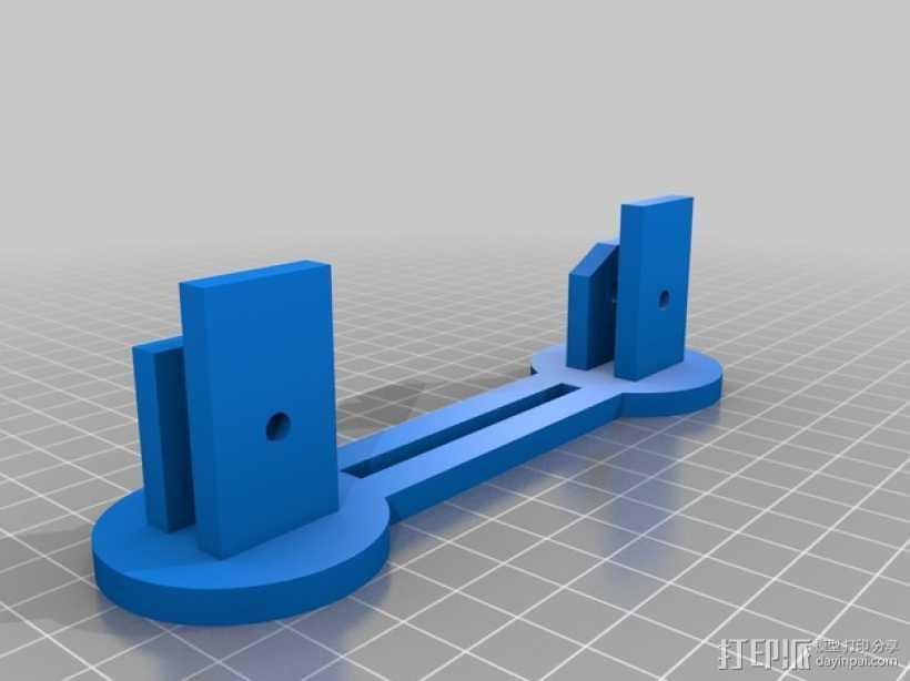 简易的线轴支架 3D打印模型渲染图