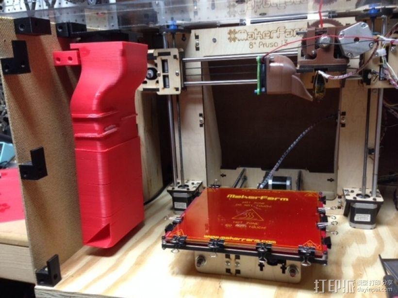 打印机外罩加热器整流罩 3D打印模型渲染图