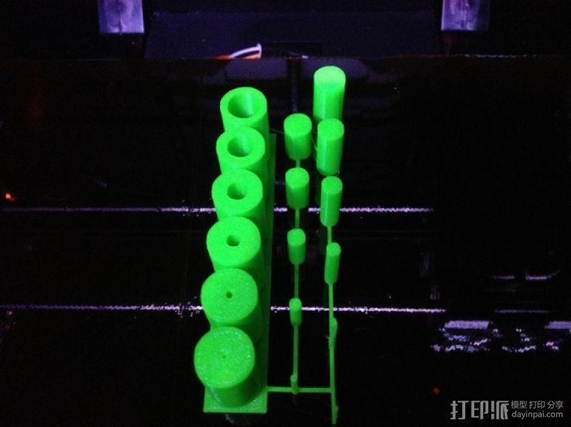 圆柱 打印测试 3D打印模型渲染图