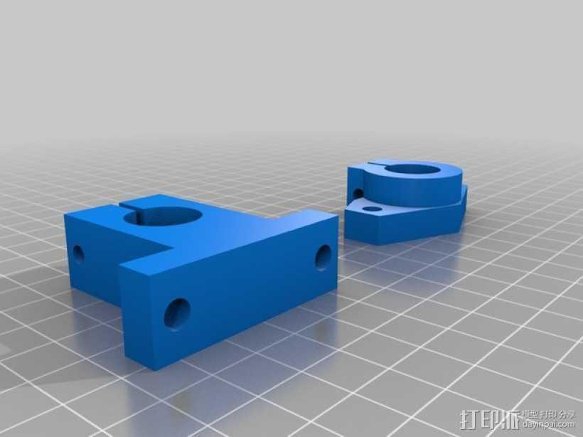 轴杆固定夹  3D打印模型渲染图